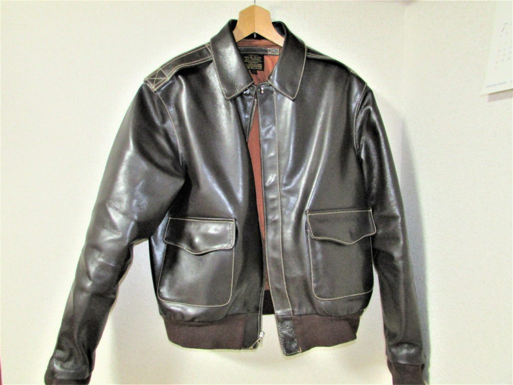 Type A-2 leather flight jacket