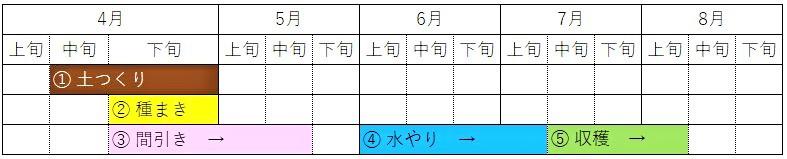 Cultivation schedule