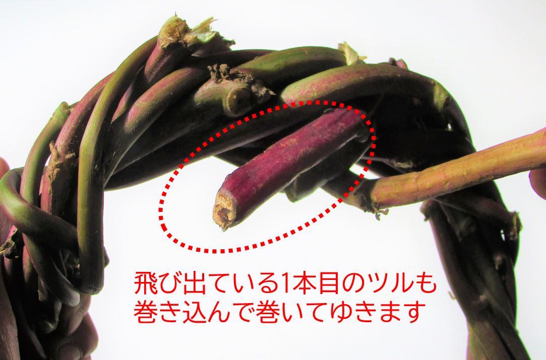 sweetpotato-wreath,point のびたつる (2)-1